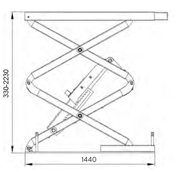PA-7335 In Floor Scissor Lift 3 5T